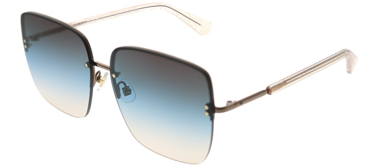 Kate Spade KS Janay SQG 98 Square Metal Brown Sunglasses with Blue Gradient Lens