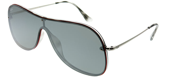 Ray-Ban RB 4311N 63596G Shield Plastic Tortoise/ Havana Sunglasses with Grey Mirror Silver Lens