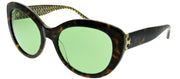Tory Burch TY 7121 1734/2 Cat-eye Plastic Tortoise/ Havana Sunglasses with Green Lens