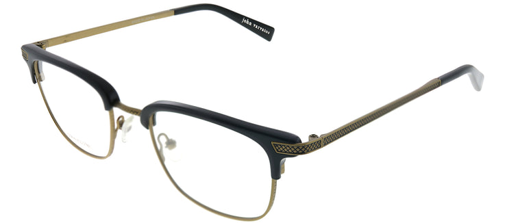 John Varvatos JV V162 BLA Square Metal Black Eyeglasses with Demo Lens