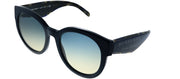 Burberry BE 4260 369079 Round Plastic Blue Sunglasses with Blue Gradient Lens