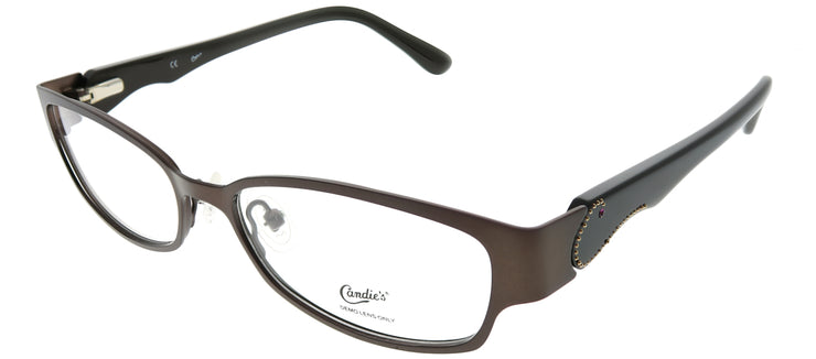 Candies CAN SKYE MBRN Rectangle Metal Brown Eyeglasses with Demo Lens