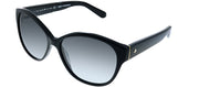 Kate Spade KS Kiersten2 807 Oval Plastic Black Sunglasses with Grey Gradient Lens