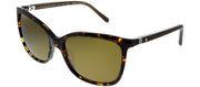 Kate Spade KS Kasie/P RRW Butterfly Plastic Tortoise/ Havana Sunglasses with Brown Polarized Lens