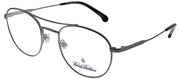 Brooks Brothers BB 1060 1670 Oval Metal Ruthenium/ Gunmetal Eyeglasses with Demo Lens