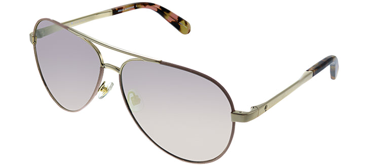 Kate Spade KS Amarissa EYR Aviator Metal Gold Sunglasses with Pink Gradient Lens