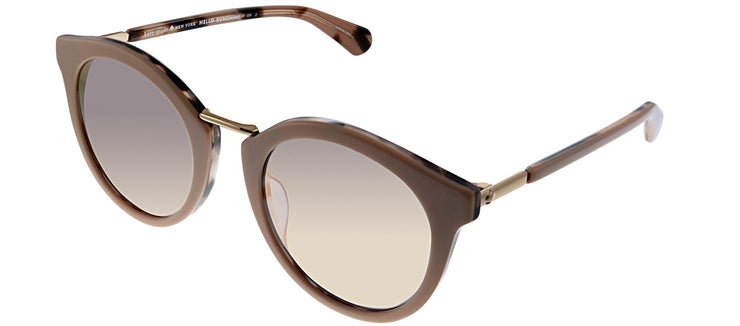 Kate Spade KS Joylyn HT8 Oval Plastic Pink Sunglasses with Rose Mirror Lens