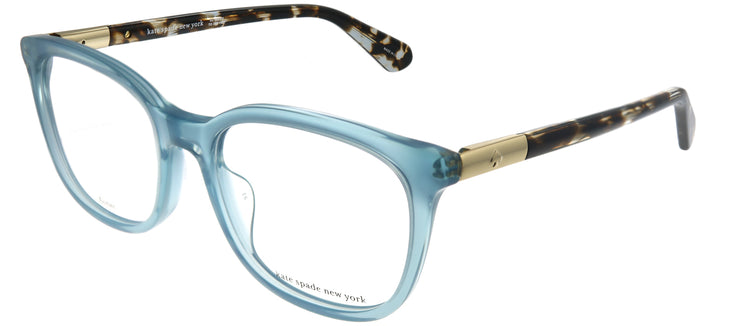 Kate Spade KS Jalisha PJP Square Plastic Blue Eyeglasses with Demo Lens