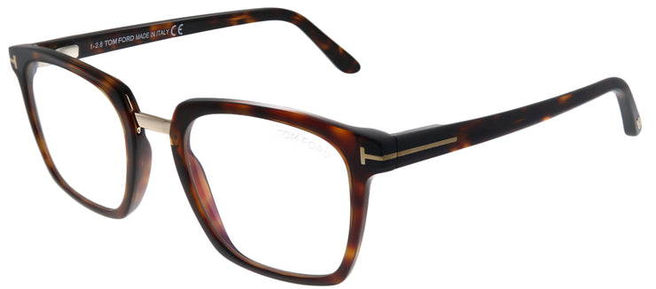 Tom Ford FT 5523-B 054 Square Plastic Tortoise/ Havana Eyeglasses with Blue Block Lens