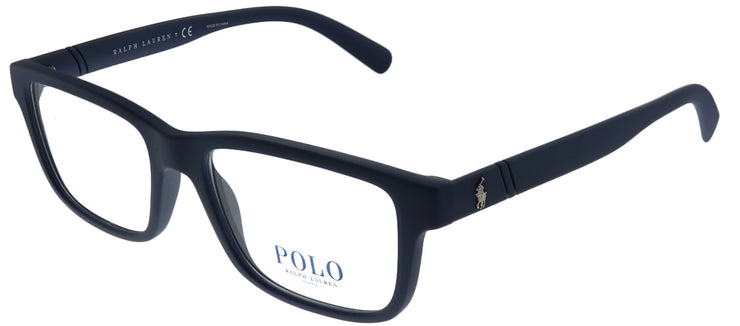 Polo Ralph Lauren PH 2176 5620 Rectangle Plastic Blue Eyeglasses with Demo Lens