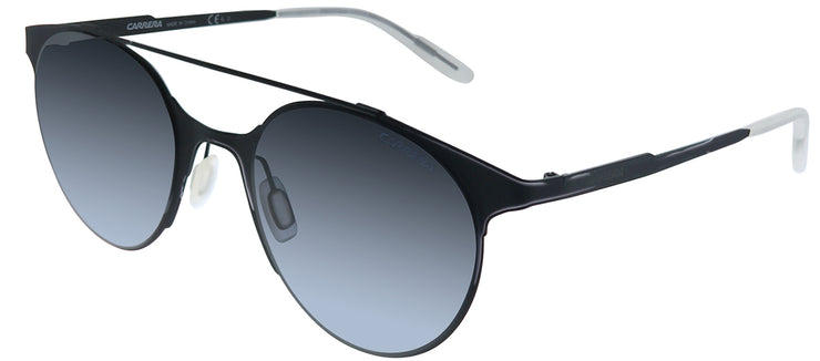 Carrera Carrera 115/S 003 HD Round Metal Black Sunglasses with Grey Gradient Lens