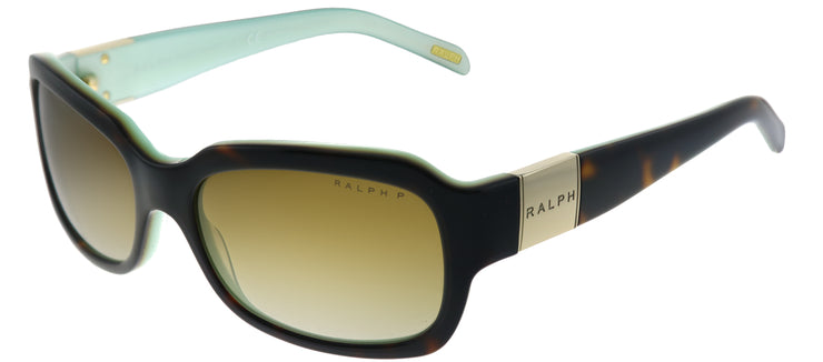 Ralph by Ralph Lauren RA 5049 601/T5 Fashion Plastic Tortoise/ Havana Sunglasses with Brown Gradient Polarized Lens
