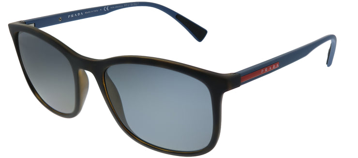 Prada Linea Rossa PS 01TS U61144 Rectangle Plastic Tortoise/ Havana Sunglasses with Grey Polarized Lens