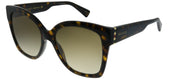 Gucci GG 0459S 002 Square Plastic Tortoise/ Havana Sunglasses with Brown Gradient Lens