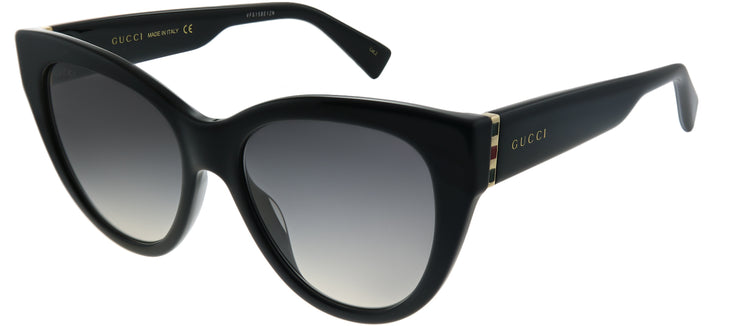 Gucci GG 0460S 001 Cat-Eye Plastic Black Sunglasses with Grey Gradient Lens