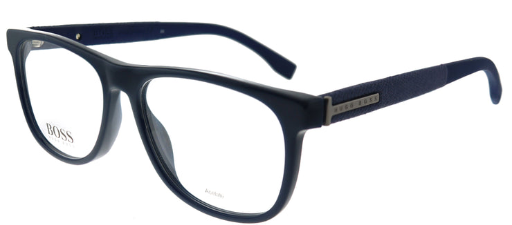 Hugo Boss BOSS 0985 PJP Rectangular Plastic Blue Eyeglasses with Demo Lens