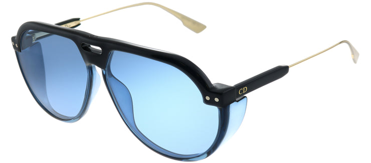 Dior DiorClub3 D51 KU Aviator Plastic Blue Sunglasses with Blue Lens
