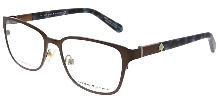 Kate Spade KS Ninette JTV Square Metal Brown Eyeglasses with Demo Lens