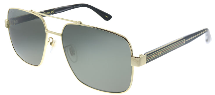 Gucci GG 0529S 001 Aviator Metal Gold Sunglasses with Grey Lens