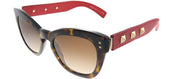 Valentino VA 4037 500213 Butterfly Plastic Tortoise/ Havana Sunglasses with Brown Gradient Lens