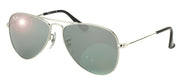 Ray-Ban Junior Jr RJ 9506 212/6G Aviator Metal Silver Sunglasses with Silver Mirror Lens