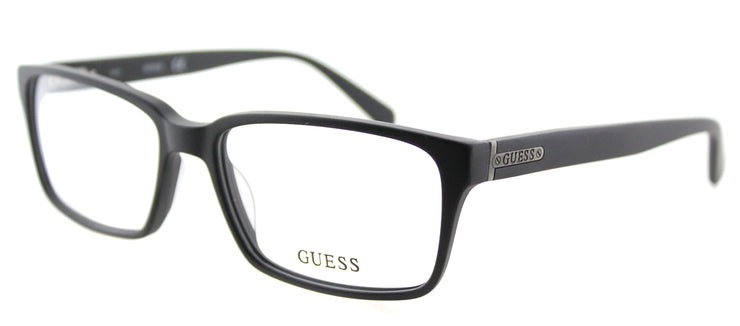 Guess GU 1843 BLK Rectangle Plastic Black Eyeglasses with Demo Lens