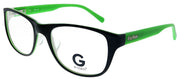 G by Guess GU 204 BLKGRN Rectangle Plastic Black Eyeglasses with Demo Lens