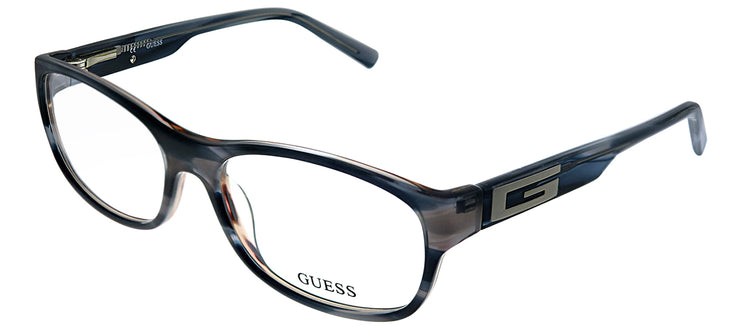 Guess GU 1748 BL Rectangle Plastic Blue Eyeglasses with Demo Lens