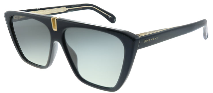 Givenchy GV 7109 807 Square Plastic Black Sunglasses with Grey Gradient Lens