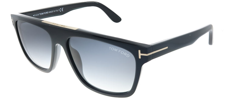 Tom Ford TF 628 01B Aviator Plastic Black Sunglasses with Grey Gradient Lens