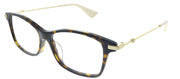 Gucci GG 0513OA 005 Rectangle Plastic Tortoise/ Havana Eyeglasses with Demo Lens