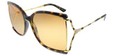 Gucci GG 0592S 003 Butterfly Plastic Tortoise/ Havana Sunglasses with Orange Gradient Lens