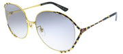 Gucci GG 0595S 002 Round Metal Gold Sunglasses with Grey Gradient Lens