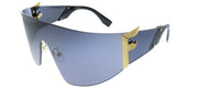 Fendi FF 0382 807 Shield Plastic Black Sunglasses with Grey Lens