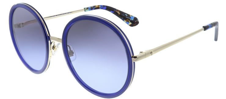 Kate Spade KS Lamonica KY2 Round Plastic Blue Sunglasses with Grey Gradient Lens