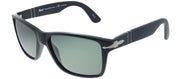 Persol PO 3195S 104258 Rectangle Plastic Black Sunglasses with Green Polarized Lens