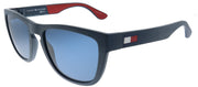 Tommy Hilfiger TH 1557/S 8RU Square Plastic Blue Sunglasses with Blue Lens