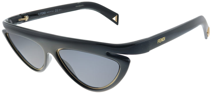 Fendi FF 0383 807 Cat-Eye Plastic Black Sunglasses with Grey Lens
