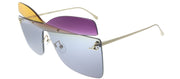 Fendi FF 0399 01B Butterfly Plastic Grey Sunglasses with Orange Violet Grey Lens