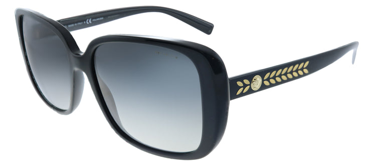 Versace VE 4357 GB1/T3 Square Plastic Black Sunglasses with Grey Polarized Lens