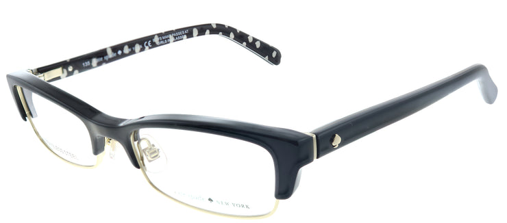 Kate Spade KS Joetta 807 Rectangle Plastic Black Eyeglasses with Demo Lens