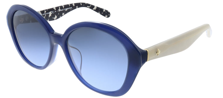 Kate Spade KS Selma/F/S S38 Oval Plastic Blue Sunglasses with Blue Gradient Lens