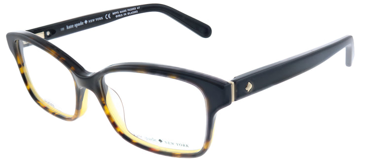 Kate Spade KS Sharla EUT Rectangle Plastic Black Eyeglasses with Demo Lens