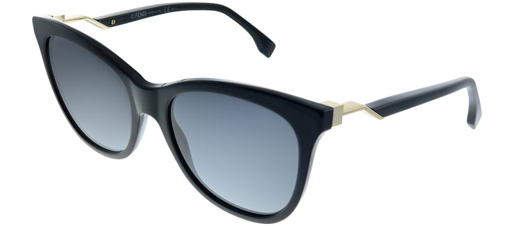 Fendi FF 0200 807 HD Cat-Eye Plastic Black Sunglasses with Grey Gradient Lens