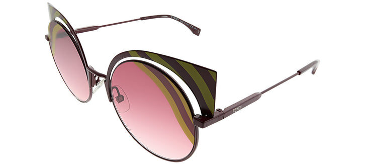 Fendi FF 0215 0L9 Cat-Eye Metal Multicolor Sunglasses with Pink Gradient Lens