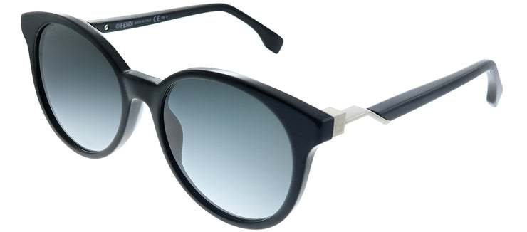 Fendi FF 0231 807 9O Round Plastic Black Sunglasses with Grey Gradient Lens