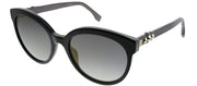 Fendi FF 0268 807 FQ Cat-Eye Plastic Black Sunglasses with Grey Mirror Lens
