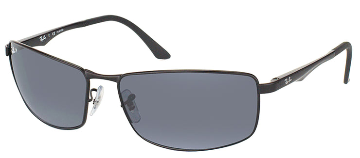 Ray-Ban RB 3498 006/81 Sport Metal Black Sunglasses with Grey Polarized Lens