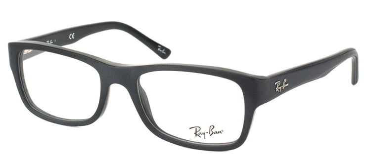 Ray-Ban RX 5268 5119 Rectangle Plastic Black Eyeglasses with Demo Lens
