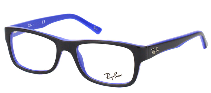 Ray-Ban RX 5268 5179 Rectangle Plastic Black Eyeglasses with Demo Lens